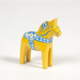 DALARNA YELLOW SWEDEN SERIE HORSE 10 CM