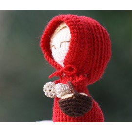 CROCHETED RED HOOD DOLL