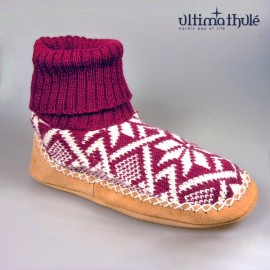 "MOUNTAIN-SLIPPERS ""BORDEAUX"""