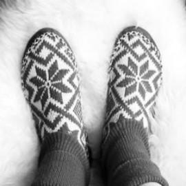 Chaussons nordiques 100% laine